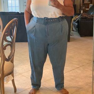 ELOQUII High Waist Belted Trouser